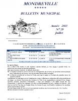 Bulletin N°29